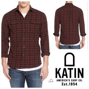 🆕 Katin Men's Red Mac Flannel Shirt